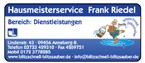 Hausmeisterservice Frank Riedel