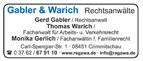 Rechtsanwälte Gabler & Warich