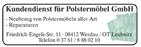 Kundendienst für Polstermöbel GmbH