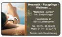 Kosmetik · Fußpflege · Wellness E. Unger