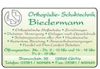 Orthopädie- Schuhtechnik  Biedermann