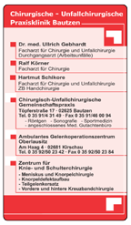 Chirurgisch-Unfallchirurgische Praxisklinik Bautzen