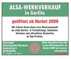 ALSA-Werkverkauf in Görlitz
