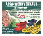 ALSA-Werkverkauf in Schönbach