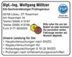 Dipl.-Ing. Wolfgang Militzer