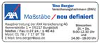 AXA Versicherungen Tino Berger