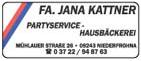 FA. JANA KATTNER Partyservice - Hausbäckerei