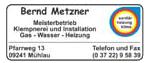 Klempnerei und Installation Bernd Metzner