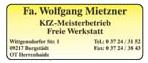Fa. Wolfgang Mietzner Kfz-Meisterbetrieb
