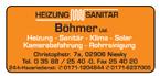 Heizung - Sanitär Böhmer Ltd.