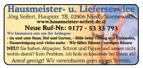 Hausmeister- u. Lieferservice Seifert