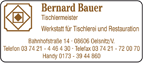 Tischlerei Bernard Bauer