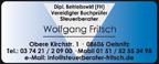 Steuerberater Wolfgang Fritsch