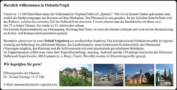 Herzlich willkommen im Oelsnitz/Vogtland