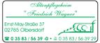 Altenpflegeheim Friedrich Wagner