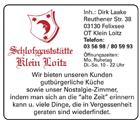Schloßgaststätte Klein Loitz