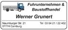 Fuhrunternehmen & Baustoffhandel Werner Grunert