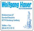 Wolfgang Hauer freie Kfz-Meisterwerkstatt