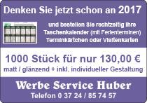 Werbe Service Huber Taschenkalender